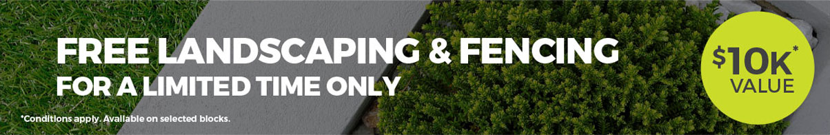 Free landscaping and fencing