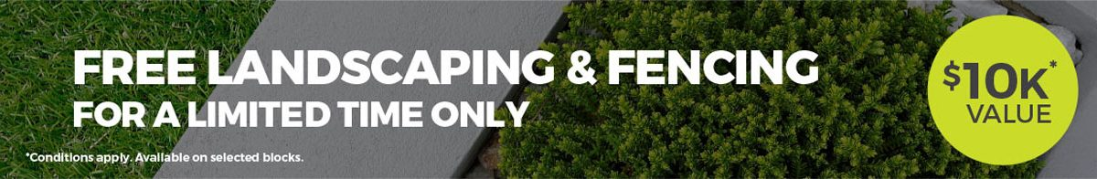 10K Landscaping and Fencing promotion